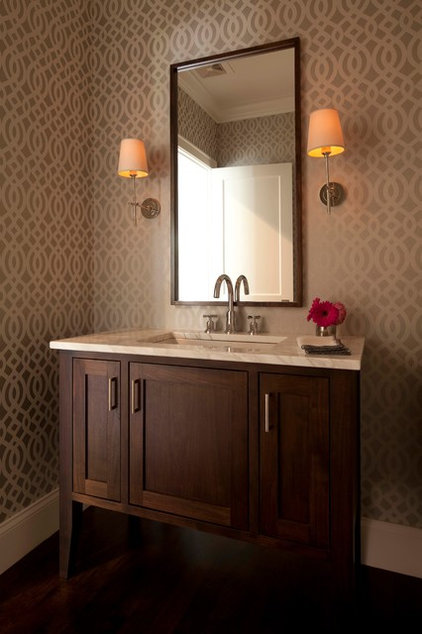 Transitional Powder Room by Elevation