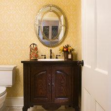 Traditional Powder Room by John Kraemer & Sons