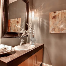 Contemporary Powder Room by Bruce Knutson Architects
