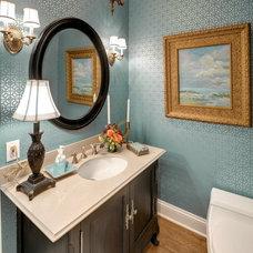 Traditional Powder Room by KBI Interior Design Studios