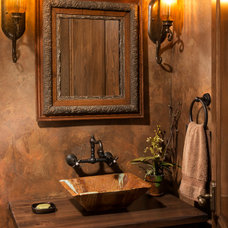 Traditional Powder Room by Kyle Hunt & Partners, Incorporated