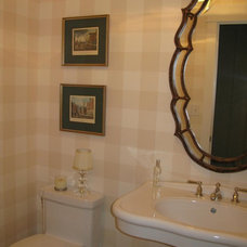 Traditional Powder Room by Wolfe Design House