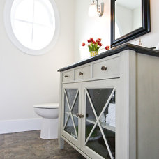 Traditional Powder Room by Starline Cabinets