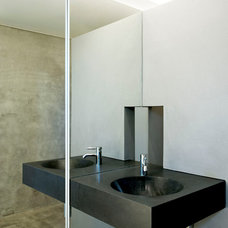 Modern Powder Room by Daniel Marshall Architect
