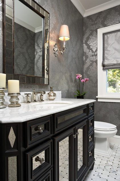 Traditional Powder Room by Elsie Interior