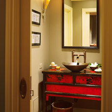 Asian Powder Room by Dorado Designs