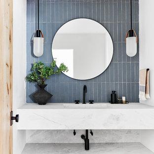 Пример оригинального дизайна: туалет в стиле рустика