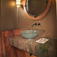 powder room by KSID Studio, LLC