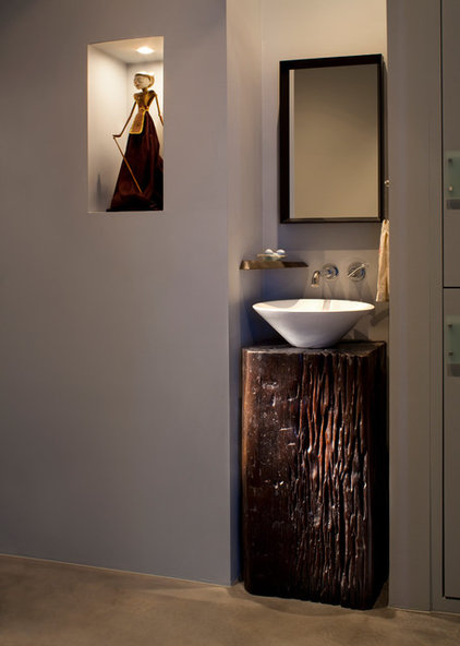 Contemporary Powder Room by Mindful Designs, Inc.