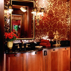 Traditional Powder Room by Vujovich Design Build, Inc.
