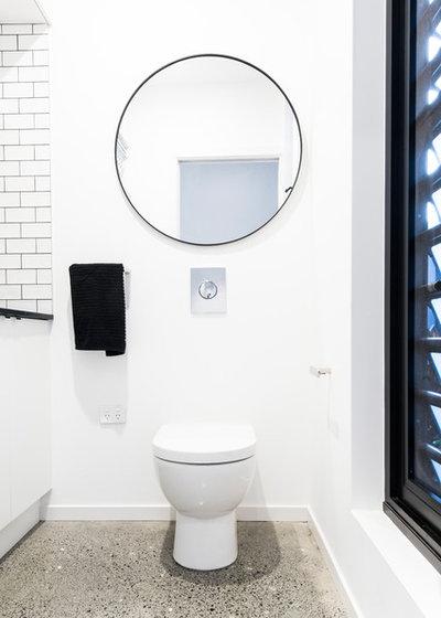 Contemporary Powder Room by Amrish Maharaj Architect