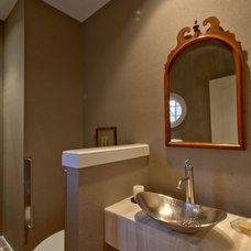 Transitional Powder Room by Wrightworks, LLC