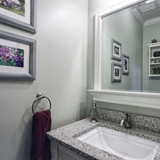 Traditional Powder Room by M & M Home Contractors Inc