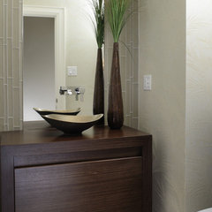 asian powder room by XTC Design Incorporated