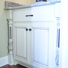 Traditional Powder Room by Livingston Cabinets