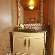 Traditional Powder Room by Jaque Bethke for PURE Design Environments Inc.