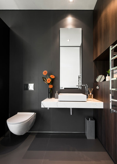 Contemporary Powder Room by Urbane Projects Pty Ltd