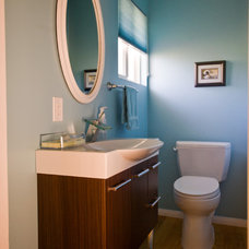 Contemporary Powder Room by All Pro Builders Inc.