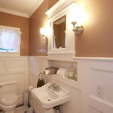 Traditional Powder Room by Stacy McCarthy Design (aka Vinewood Design)