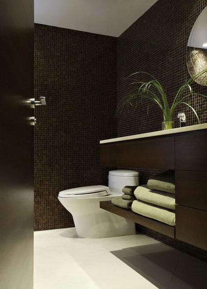 Contemporary Powder Room by Nigel Walker and Associates Inc