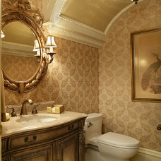 Traditional Powder Room by Diane Durocher Interiors