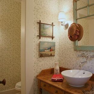 Esempio di un bagno di servizio shabby-chic style