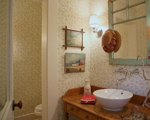 Gästetoilette & Gäste-wc Im Shabby-chic-style: Ideen Für Gästebad ... Badezimmer Im Shabby Chic Stil Gestalten