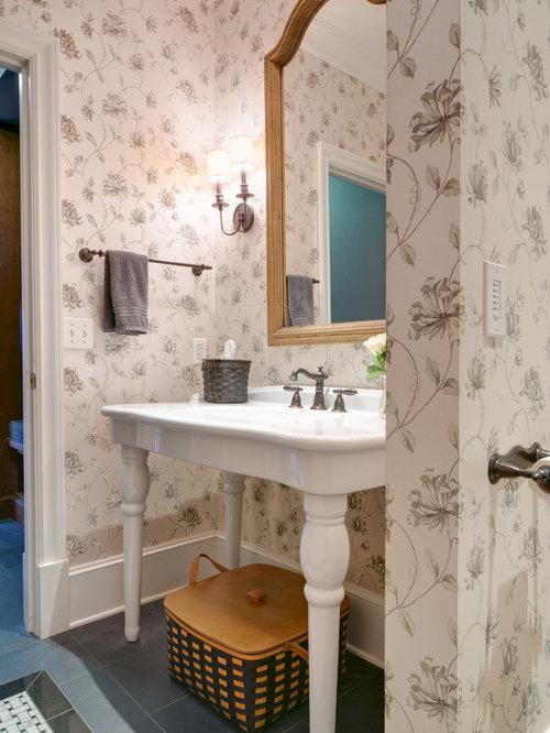 Foto e idee per bagni di servizio bagno di servizio con - Piastrelle in ardesia ...