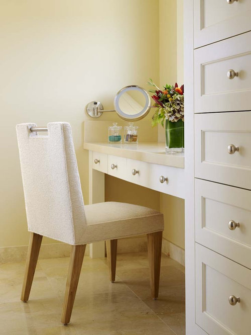 Farmhouse Vanity With Makeup Area