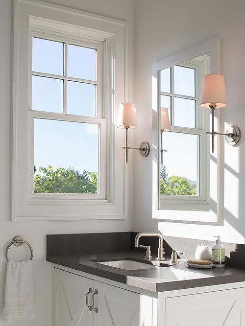 g stetoilette g ste wc mit unterbauwaschbecken im landhausstil ideen f r g stebad und g ste. Black Bedroom Furniture Sets. Home Design Ideas