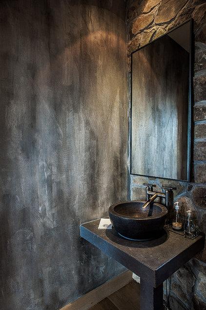 Eclectic Powder Room by Artstar Custom Paintworks