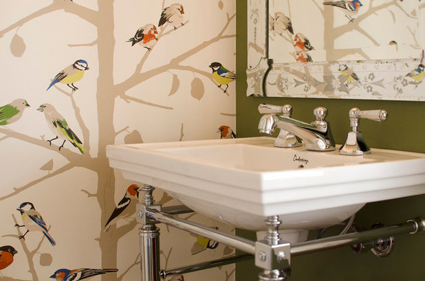 Eclectic Powder Room by Key Piece