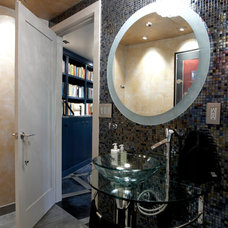 Contemporary Powder Room by Jaque Bethke for PURE Design Environments Inc.