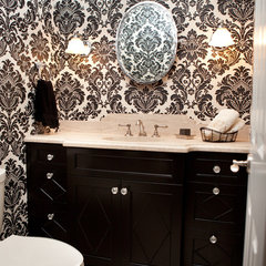 traditional powder room by Orfield Remodeling, Inc