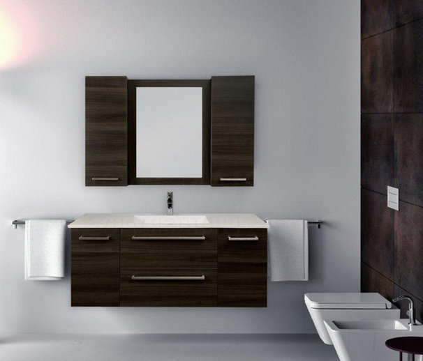 Modern Powder Room by Visionary Kitchens