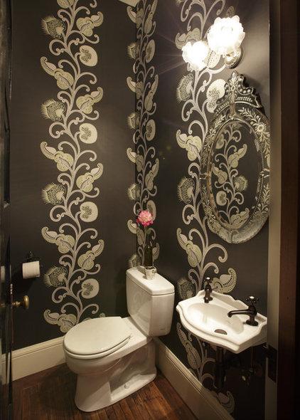 Contemporary Powder Room by flores de pared