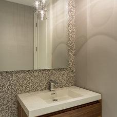 Contemporary Powder Room by Jillian Aimis Architect