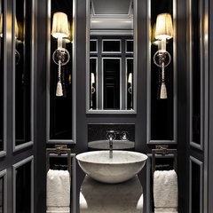 contemporary powder room by John David Edison Interior Design Inc.