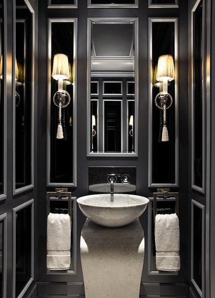 Tropical Powder Room by John David Edison Interior Design Inc.