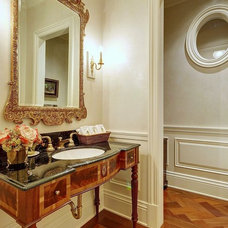 Traditional Powder Room by tuthill architecture