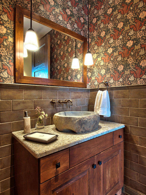 William morris wallpaper home design ideas pictures - Powder room sink ideas ...