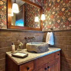 traditional powder room by Jon Eady Photographer