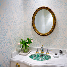 Traditional Powder Room by Capital Construction and Project Management