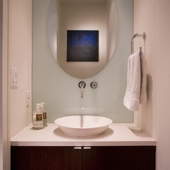 modern powder room by FORMA Design