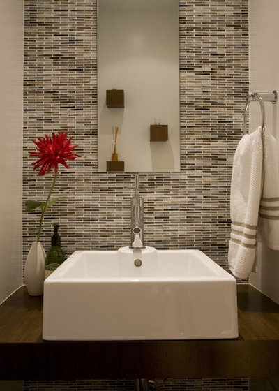 Contemporary Powder Room by FORMA Design