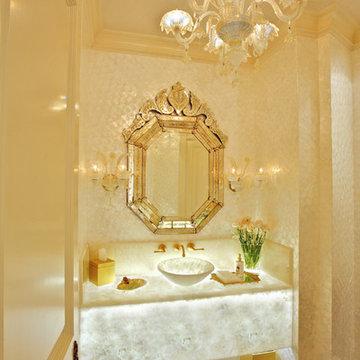 Formal Opulent Powder Room
