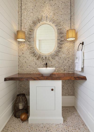 Beach Style Powder Room by Kukk Architecture & Design P.A.