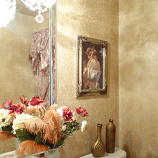 Traditional Powder Room by Foxy Fauxs