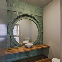 contemporary powder room by Jane Kim Design