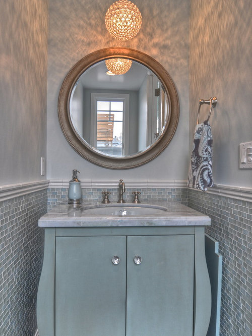 Powder room tile ideas pictures remodel and decor - Powder room tile ideas ...